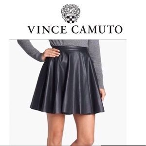 Vince Camino faux leather size 6 black skirt